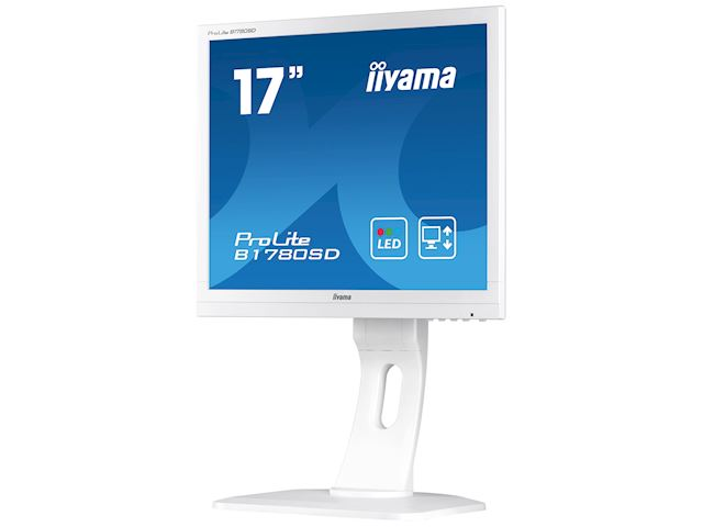 "iiyama ProLite B1780SD-W1 17"" 5:4 Black, Height Adjustable, White image 2"
