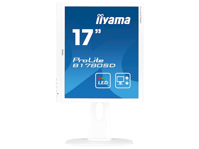 "iiyama ProLite B1780SD-W1 17"" 5:4 Black, Height Adjustable, White image 6"