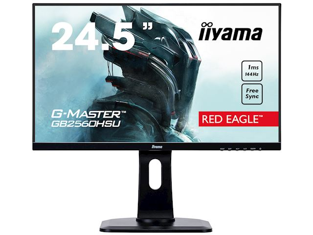 "iiyama G-Master Red Eagle gaming monitor GB2560HSU-B1 24.5"" Black, Ultra Slim Bezel, Full HD, 144Hz, 1ms, FreeSync, HDMI, Display Port, USB Hub image 0"