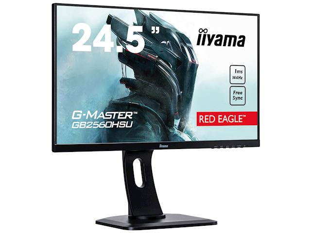 "iiyama G-Master Red Eagle gaming monitor GB2560HSU-B1 24.5"" Black, Ultra Slim Bezel, Full HD, 144Hz, 1ms, FreeSync, HDMI, Display Port, USB Hub image 1"