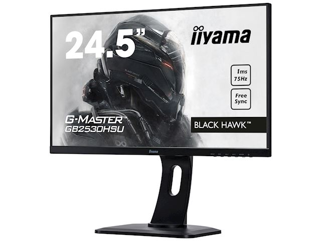 "iiyama G-Master Black Hawk GB2530HSU-B1 24.5"" Black, Ultra Slim Bezel, Full HD, 75Hz, 1ms, FreeSync, HDMI, Display Port, USB Hub image 2"