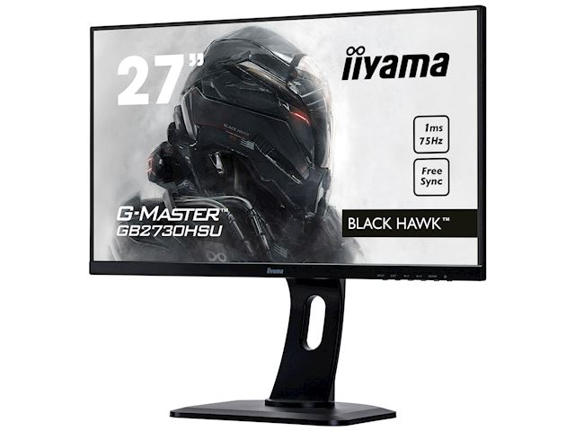 "iiyama G-Master Black Hawk gaming monitor GB2730HSU-B1 27"" Black, Ultra Slim Bezel, Full HD, 75Hz, 1ms, FreeSync, HDMI, Display Port, USB Hub image 2"