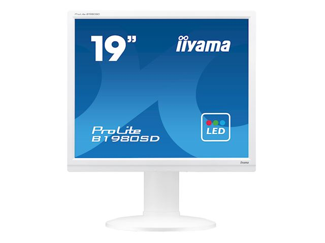 "iiyama ProLite monitor B1980SD-W1 19"" 5:4 Black, Height Adjustable, White image 3"