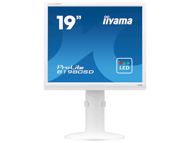 "iiyama ProLite monitor B1980SD-W1 19"" 5:4 Black, Height Adjustable, White image 0"