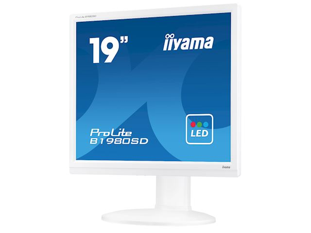 "iiyama ProLite monitor B1980SD-W1 19"" 5:4 Black, Height Adjustable, White image 5"