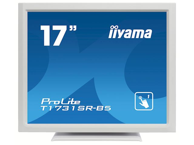 "iiyama ProLite monitor T1731SR-W5 17"" White, 5:4, Resistive single touch, HDMI, Display Port image 0"