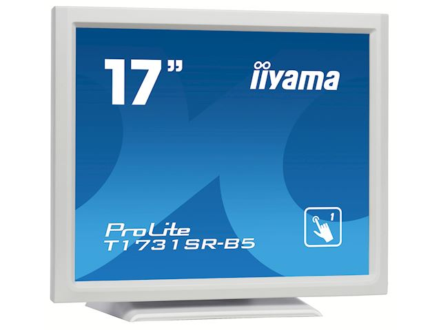 "iiyama ProLite monitor T1731SR-W5 17"" White, 5:4, Resistive single touch, HDMI, Display Port image 1"