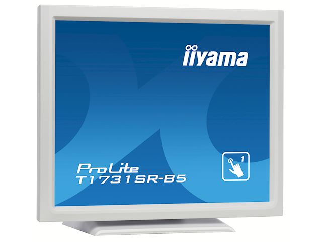 "iiyama ProLite monitor T1731SR-W5 17"" White, 5:4, Resistive single touch, HDMI, Display Port image 3"