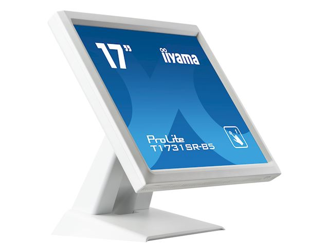 "iiyama ProLite monitor T1731SR-W5 17"" White, 5:4, Resistive single touch, HDMI, Display Port image 4"