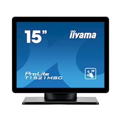 "iiyama ProLite T1521MSC-B1 15"" Black, 5:4, Projective Capacitive 10pt touch, Bezel Free"