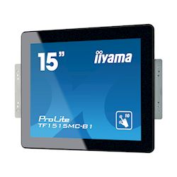 "iiyama Prolite monitor TF1515MC-B1 15"" Black, 1024 x 768 resolution, Projective Capacitive 10pt Touch, Mounting brackets included thumbnail 5"