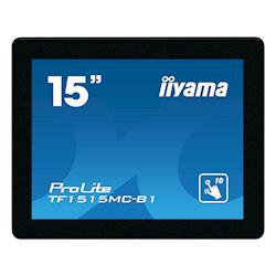 "iiyama Prolite monitor TF1515MC-B1 15"" Black, 1024 x 768 resolution, Projective Capacitive 10pt Touch, Mounting brackets included thumbnail 0"