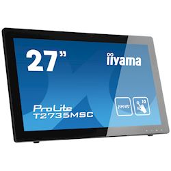 "iiyama ProLite monitor T2735MSC-B2  27"" Black, AMVA+, Full HD, Projective Capacitive 10pt touch, HDMI, USB Hub, Webcam thumbnail 1"