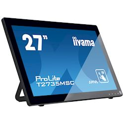 "iiyama ProLite monitor T2735MSC-B2  27"" Black, AMVA+, Full HD, Projective Capacitive 10pt touch, HDMI, USB Hub, Webcam thumbnail 4"