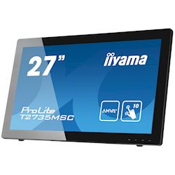 "iiyama ProLite monitor T2735MSC-B2  27"" Black, AMVA+, Full HD, Projective Capacitive 10pt touch, HDMI, USB Hub, Webcam thumbnail 2"