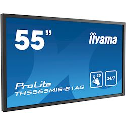 "iiyama ProLite TH5565MIS-B1AG 55"" Infrared 20pt touch, IPS, 24/7, Landscape/Portrait, Anti-glare, HDMI, Brightness sensor thumbnail 1"