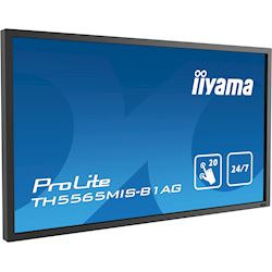 "iiyama ProLite TH5565MIS-B1AG 55"" Infrared 20pt touch, IPS, 24/7, Landscape/Portrait, Anti-glare, HDMI, Brightness sensor thumbnail 2"