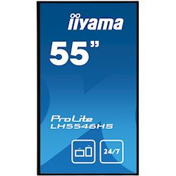 "iiyama Prolite LH5546HS-B1 55"", 24/7, HDMI, DisplayPort, Daisy Chain function, Media Player, Landscape, PiP"