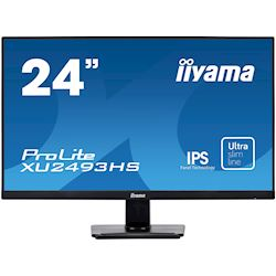 "iiyama ProLite monitor XU2493HS-B1 24"", IPS, Full HD, Black, Ultra Slim Bezel, HDMI, DisplayPort, Blue light reducer, Flicker free"