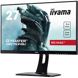 "iiyama G-Master Red Eagle gaming monitor GB2760HSU-B1 27"" Black, Full HD, 1ms, 144Hz, FreeSync, HDMI, Display Port, Height Adjustable thumbnail 4"