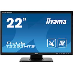 "iiyama ProLite monitor T2253MTS-B1 22"", Opitical 2pt touch, 2ms, HDMI, Glass front, 16:9"
