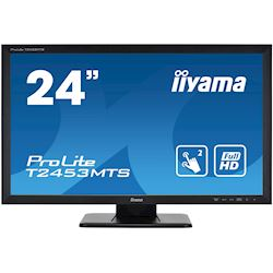 "iiyama ProLite T2453MTS-B1 24"", VA, Optical 2pt touch, HDMI, Scratch resistive, Black, Glass front"