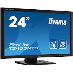 "iiyama ProLite monitor T2453MTS-B1 24"", VA, Optical 2pt touch, HDMI, Scratch resistive, Black, Glass front thumbnail 1"