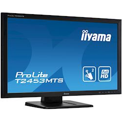 "iiyama ProLite monitor T2453MTS-B1 24"", VA, Optical 2pt touch, HDMI, Scratch resistive, Black, Glass front thumbnail 2"
