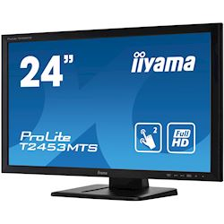 "iiyama ProLite monitor T2453MTS-B1 24"", VA, Optical 2pt touch, HDMI, Scratch resistive, Black, Glass front thumbnail 5"