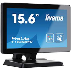 "iiyama ProLite T1633MC-B1 15.6"", Projective Capacitive 10pt touch, edge to edge glass, HDMI, DisplayPort, USB Hub, scratch resistant thumbnail 1"