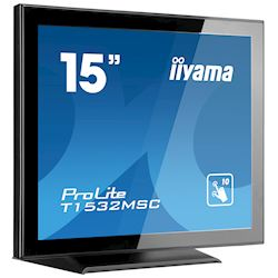 "iiyama ProLite T1532MSC-B5X 15"", Black, Projective Capacitive 10pt touch, edge to edge glass,scratch resistant, HDMI, DisplayPort thumbnail 1"
