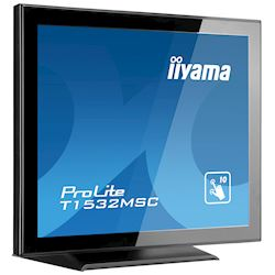 "iiyama ProLite T1532MSC-B5AG 15"", Black, Projective Capacitive 10pt touch, edge to edge glass, Anti-glare coating, scratch resistant, HDMI, DisplayPort  thumbnail 2"