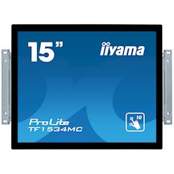 "iiyama ProLite TF1534MC-B6X 15"", Projective Capacitive 10pt touch, Open frame, Scratch resistant, Anti-fingerprint coating, 4:3, HDMI, DisplayPort thumbnail 0"