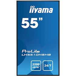 "iiyama ProLite monitor LH5510HSHB-B1 55"", IPS, Landscape, 24/7, HDMI, DisplayPort, sunlight readable, low power consumption thumbnail 1"