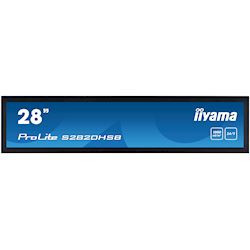 "iiyama ProLite monitor S2820HSB-B1 28"" stretched digital signage, 24/7, fanless, HDMI, Sunlight readable, Landscape/Portrait, Metal bezel, with handles"