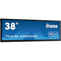 "iiyama ProLite monitor S3820HSB-B1 38"" stretched digital signage, 24/7, fanless, HDMI, Sunlight readable, Landscape/Portrait, Metal bezel, with handles thumbnail 2"