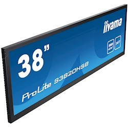 "iiyama ProLite monitor S3820HSB-B1 38"" stretched digital signage, 24/7, fanless, HDMI, Sunlight readable, Landscape/Portrait, Metal bezel, with handles thumbnail 3"