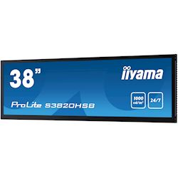 "iiyama ProLite monitor S3820HSB-B1 38"" stretched digital signage, 24/7, fanless, HDMI, Sunlight readable, Landscape/Portrait, Metal bezel, with handles thumbnail 4"