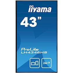 "iiyama ProLite LH4346HS-B1 42"", Black, IPS, Slim Bezel, HDMI, DisplayPort, Full HD, 24/7, Landscape, Daisy Chain function, PiP, Media Player thumbnail 1"