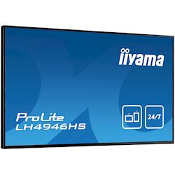 "iiyama ProLite LH4946HS-B1 49"", Black, IPS, HDMI, DisplayPort, 24/7, Daisy Chain function, Landscape, Thin Bezel, Full HD thumbnail 3"