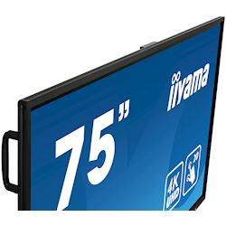 "iiyama ProLite monitor TE7503MIS-B1AG 75"", 4k UHD, Integrated annotation software, Infrared 20pt touch, 24/7, Anti-glare coating, PC slot, IPS, HDMI, DisplayPort thumbnail 3"