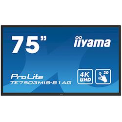 "iiyama ProLite monitor TE7503MIS-B1AG 75"", 4k UHD, Integrated annotation software, Infrared 20pt touch, 24/7, Anti-glare coating, PC slot, IPS, HDMI, DisplayPort thumbnail 21"
