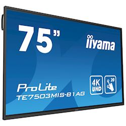 "iiyama ProLite monitor TE7503MIS-B1AG 75"", 4k UHD, Integrated annotation software, Infrared 20pt touch, 24/7, Anti-glare coating, PC slot, IPS, HDMI, DisplayPort thumbnail 22"