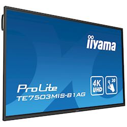 "iiyama ProLite monitor TE7503MIS-B1AG 75"", 4k UHD, Integrated annotation software, Infrared 20pt touch, 24/7, Anti-glare coating, PC slot, IPS, HDMI, DisplayPort thumbnail 23"