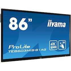"iiyama ProLite TE8603MIS-B1AG 86"", 4k UHD, Infrared 20pt touch, PC slot, 24/7, IPS, Anti-glare coating, HDMI, DisplayPort, 32gb Internal memory thumbnail 1"