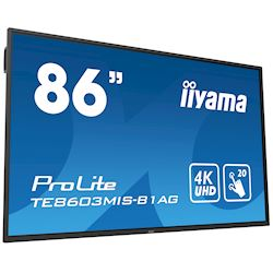 "iiyama ProLite TE8603MIS-B1AG 86"", 4k UHD, Infrared 20pt touch, PC slot, 24/7, IPS, Anti-glare coating, HDMI, DisplayPort, 32gb Internal memory thumbnail 22"