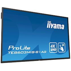 "iiyama ProLite TE8603MIS-B1AG 86"", 4k UHD, Infrared 20pt touch, PC slot, 24/7, IPS, Anti-glare coating, HDMI, DisplayPort, 32gb Internal memory thumbnail 23"