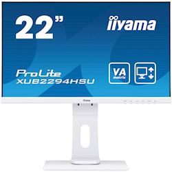"iiyama ProLite monitor XUB2294HSU-W1 22"" height adjustable, white, VA"