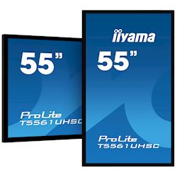 "iiyama ProLite T5561UHSC-B1 55"", Projective Capacitive 40pt Touch, 4K Edge to Edge IPS Touch Screen thumbnail 1"