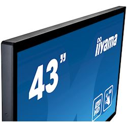"iiyama ProLite monitor T4361MSC-B1 43"" Projective Capacitive 40pt touch, edge to edge touch screen thumbnail 2"